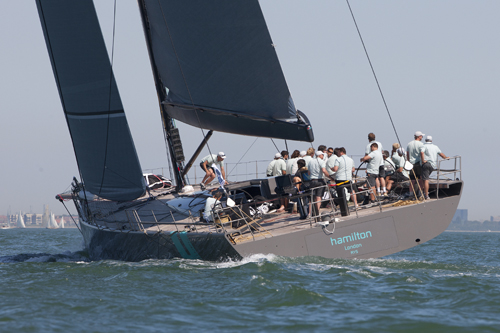 WallyCento superyacht Hamilton the overall winner of the 2012 Superyacht Cup Cowes